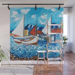 Sailboats Wall Mural