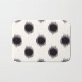 Ikat Dots Black and White Bath Mat