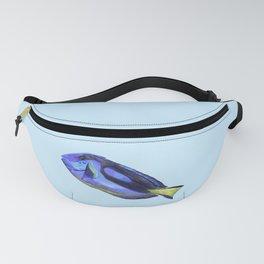 Blue Tang Watercolor Fish  Fanny Pack