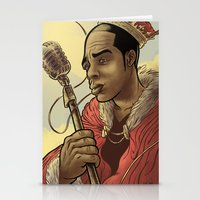 rap Stationery Cards featuring Proclaimed King of Rap by Logan  Faerber