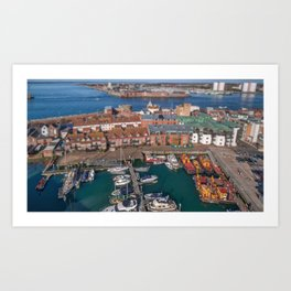 Old Portsmouth. Art Print