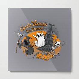 Goth Xmas Is Here Metal Print