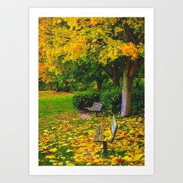 Under An Autumn Tree Art Print