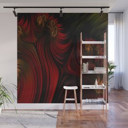 Red Ribbons Wall Mural