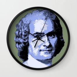 Jean-Jacques Rousseau Wall Clock