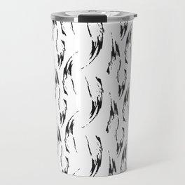 Modern abstract hand painted black watercolor brushstrokes Travel Mug