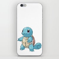 squirtle iPhone & iPod Skins featuring PIXELATED SQUIRTLE by DrakenStuff+