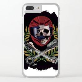 pilot skull Clear iPhone Case