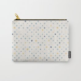 LOTS OF DOTS / milky white / phthalo blue / yellow ochre Carry-All Pouch