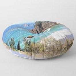 coastal overlook Floor Pillow