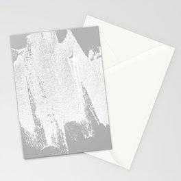 CONFIDENT - brush, white, gray background Stationery Cards
