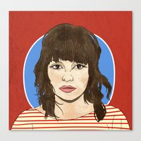 chvrches Canvas Prints featuring Lauren Mayberry by Marcelo Romero