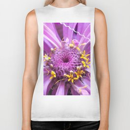 Soft Lilac Zinnia Flower Close-up #1 #decor #art #society6 Biker Tank