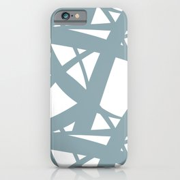 Pale Blue & White Abstract Mosaic Pattern 3 Pairs to Clare's 2020 Color of The Year Good Jeans iPhone Case