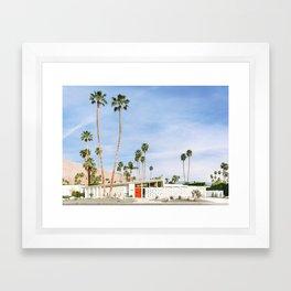 Palm Springs Red Doors Framed Art Print