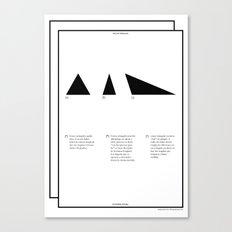 Geometric - Triángulos . (Spanish) Canvas Print