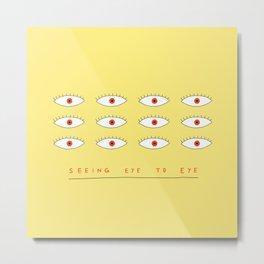 Eye to Eye Metal Print
