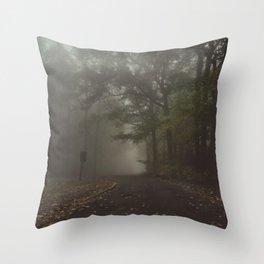 The Foggy Trail Throw Pillow