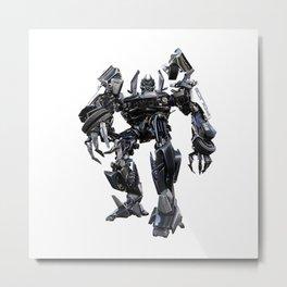 Autobot Transformer Police Robot Metal Print