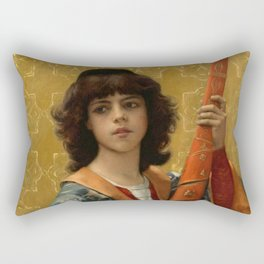 """Alexandre Cabanel """"Young Page in Florentine Garg (also known as The Sword-Bearing Page)"""" Rectangular Pillow"""