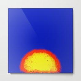 Sun Fire Explosion Metal Print