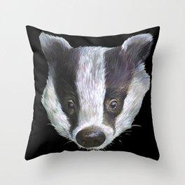 Badger! Throw Pillow