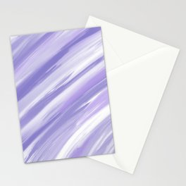 Modern purple violet abstract brushstrokes Stationery Cards