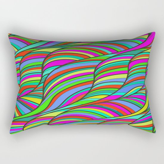 waves of colors  Rectangular Pillow