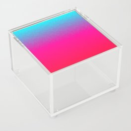 Blue purple and pink ombre flames Acrylic Box