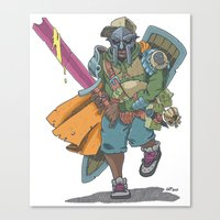dungeons and dragons Canvas Prints featuring Dungeons & Dragons & DOOM by Floating Disc