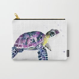 Sea Turtle, purple baby turtle illustration design Carry-All Pouch