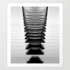Exclamation Point Piano Keys Art Print