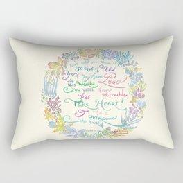 Take Heart - John 16:33 Rectangular Pillow