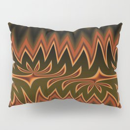 Fractal Tribal Art in Autumn Pillow Sham