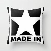 vagina Throw Pillows featuring MADE IN VAGINA by SLANTEDmind.com
