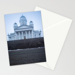 Helsinki Cathedral in Fog Stationery Cards
