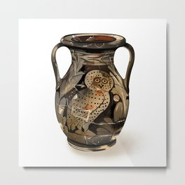 Greek Pelike with an Owl Metal Print