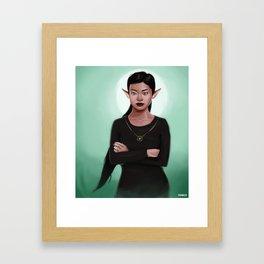 Amara the Elf Framed Art Print