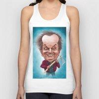 jack nicholson Tank Tops featuring Jack Nicholson caricature by Jordygraph