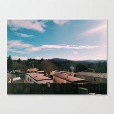 Trailer Park Living in Lincoln City, Oregon Canvas Print