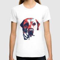 patriotic T-shirts featuring Patriotic Labrador  by Rachel Barrett