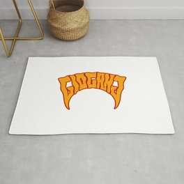 Keith Farrelle Cozart - Chief Keef - GloGang - GBE - Society6 Hip Hop ORANGE Rug