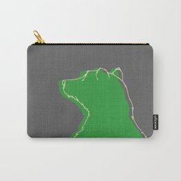 Papa bear in the dark - green Carry-All Pouch
