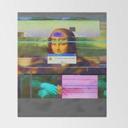 Mona Lisa _corrupt Throw Blanket