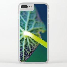Leaf Underside Macro Close Up Clear iPhone Case