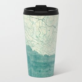Lausanne Map Blue Vintage Travel Mug