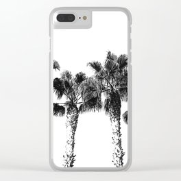 Tropical Palm Tree Photography {2 of 2} | Black and White Clear iPhone Case