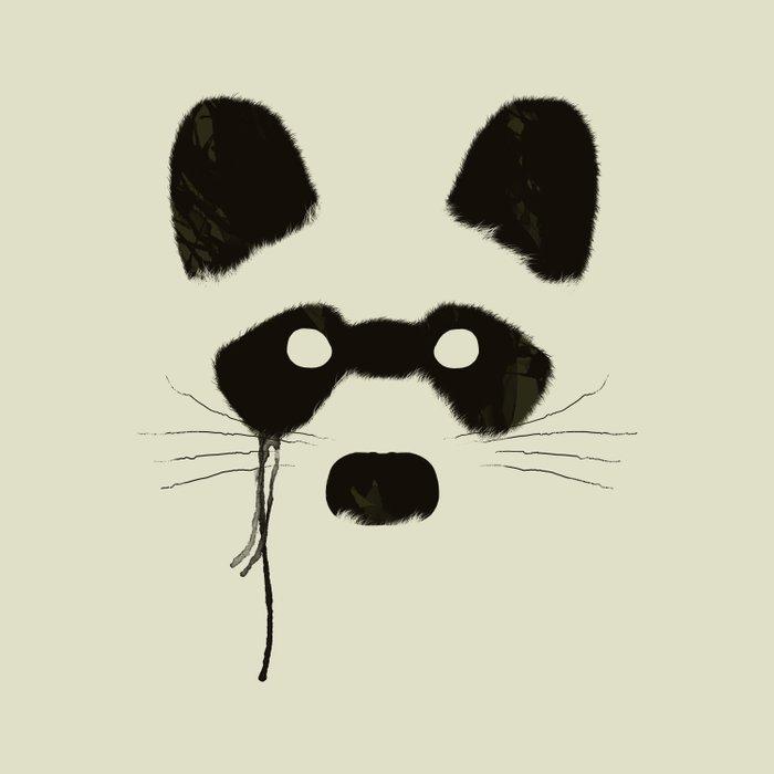 Raccoon {Light} Duvet Cover