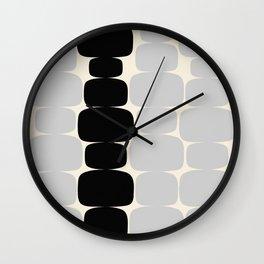 Abstraction_Balance_ROCKS_BLACK_WHITE_Minimalism_001 Wall Clock