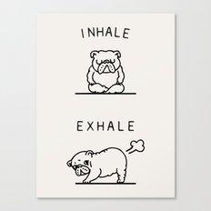 Inhale Exhale English Bulldog Canvas Print